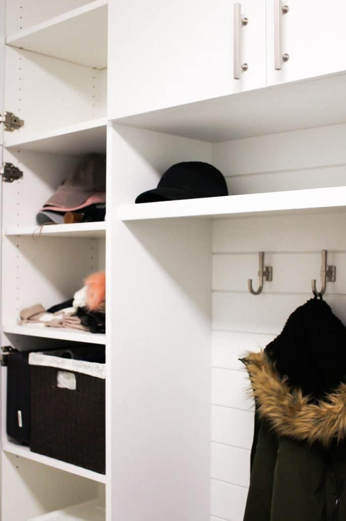 The closet was knocked out to create a functional space.