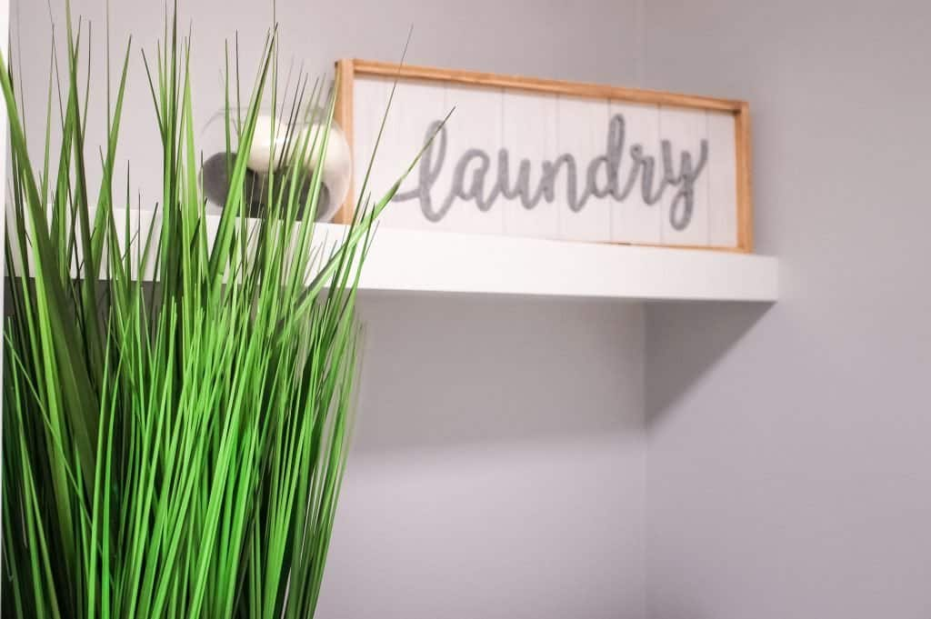 Laundry Sign for the room