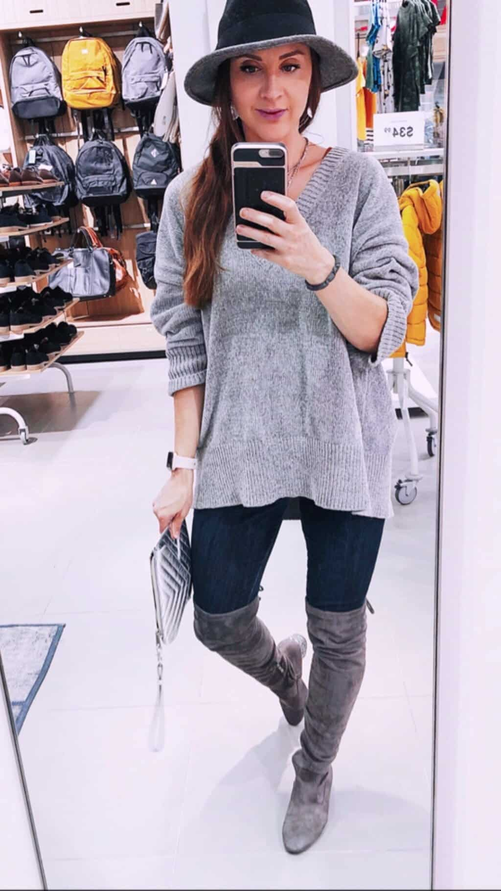 Fall Outfits - How to style over-the-knee boots for fall.