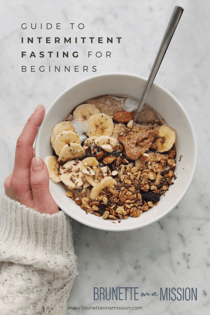 Guide to Intermittent Fasting - Bowl of yogurt and bananas with chia and granola.