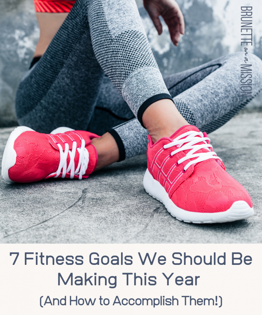 7 Fitness Goals Women (and Men) Should Make (And How to Accomplish Them!) | Fit woman sitting on a concrete floor in workout clothes.