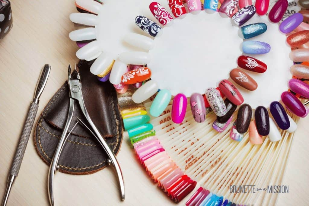 Selection of gel nails and designs at a nail salon | Artificial Nails - All the Different Types of Fake Nails